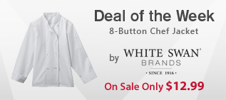 White Swan Women's 8-Button Chef Jacket